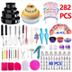 NEW 2020 Amazon Hot Sale Cake Decorating Supplies Baking Tools Kit Piping Tips Toppers Fondant 282 PCS Cake Decorating Tools Set