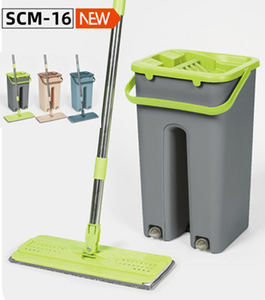 new design hand free self wash and dry cheap price flat mop with bucket set