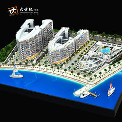 Great architectural scale model  making 3 building model with beach
