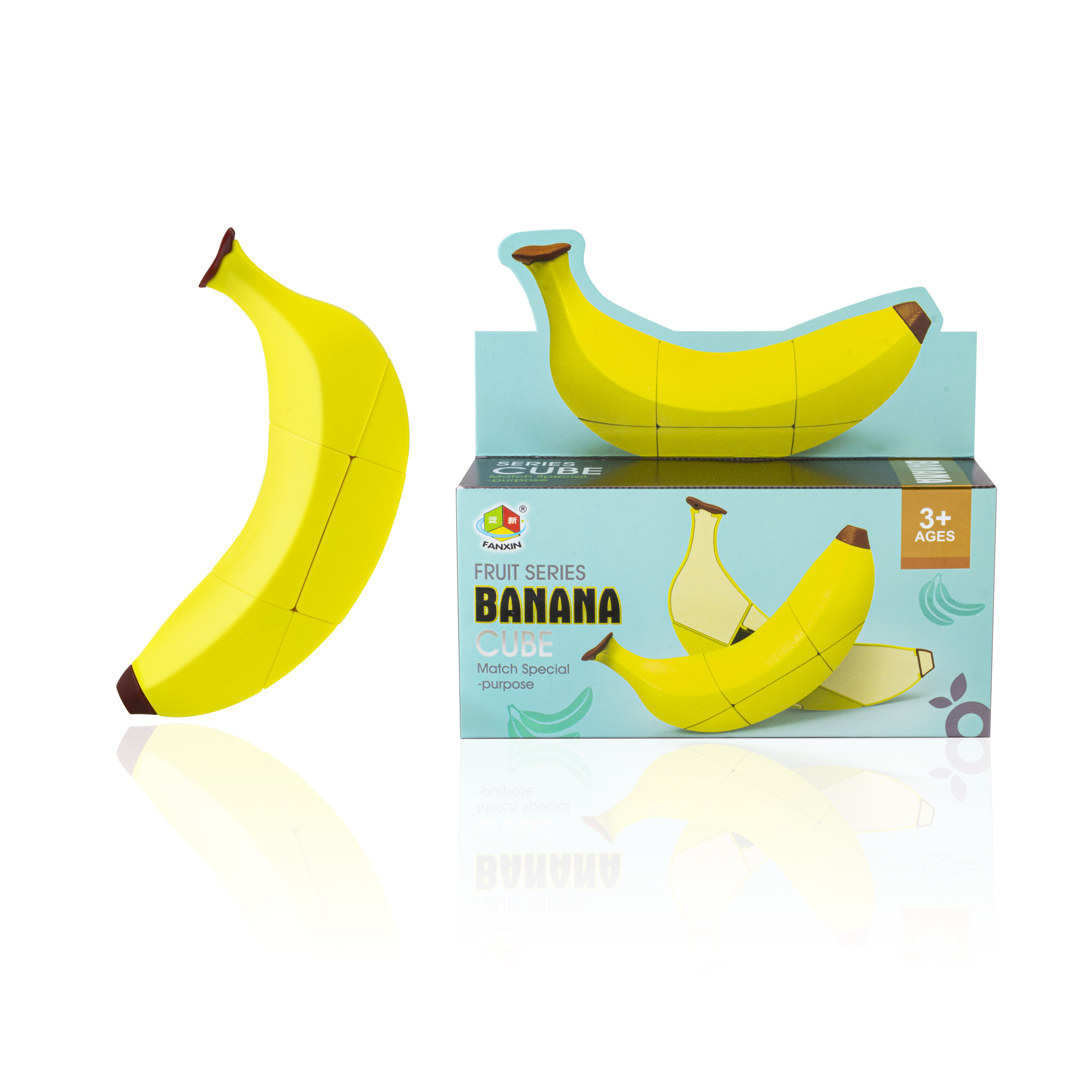 children funny irregular fruit series 3D banana puzzle cube