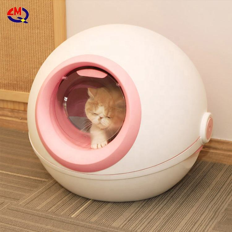 Cat Clean Up Products Plastic Large Space Cat Toilet Box Cat Litter Box Sandbox