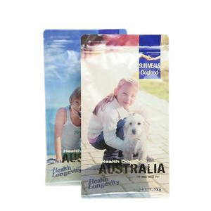 Flexible Reclosable Box Bottom Dog Treats Food Packaging Bags