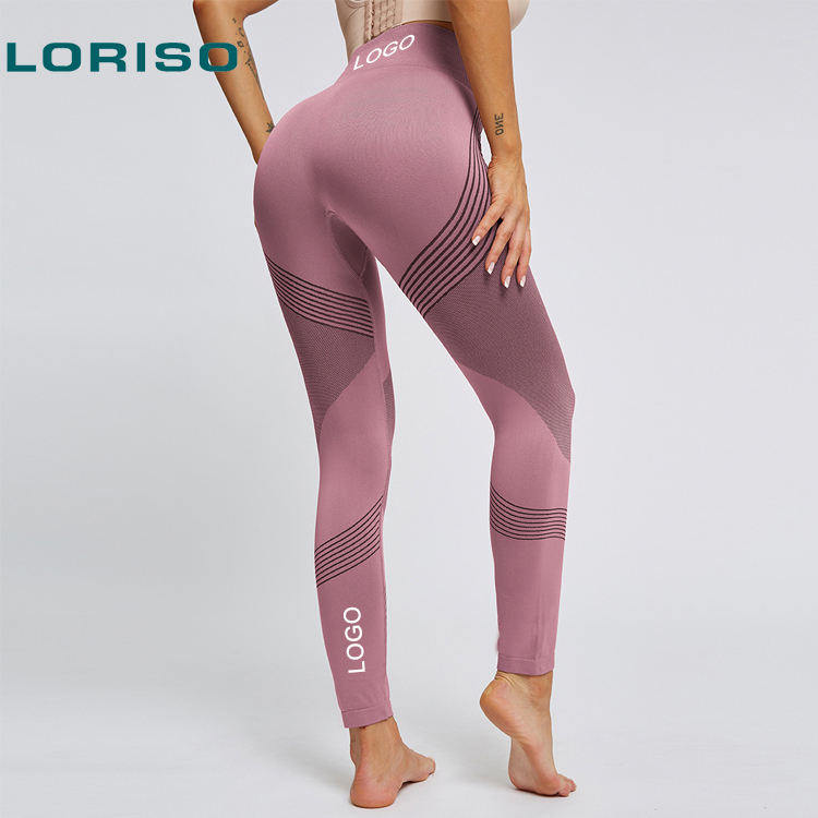 Custom Ladies Woman Girls Women High Waist Tights Seamless Fitness Gym Leggings for Sports