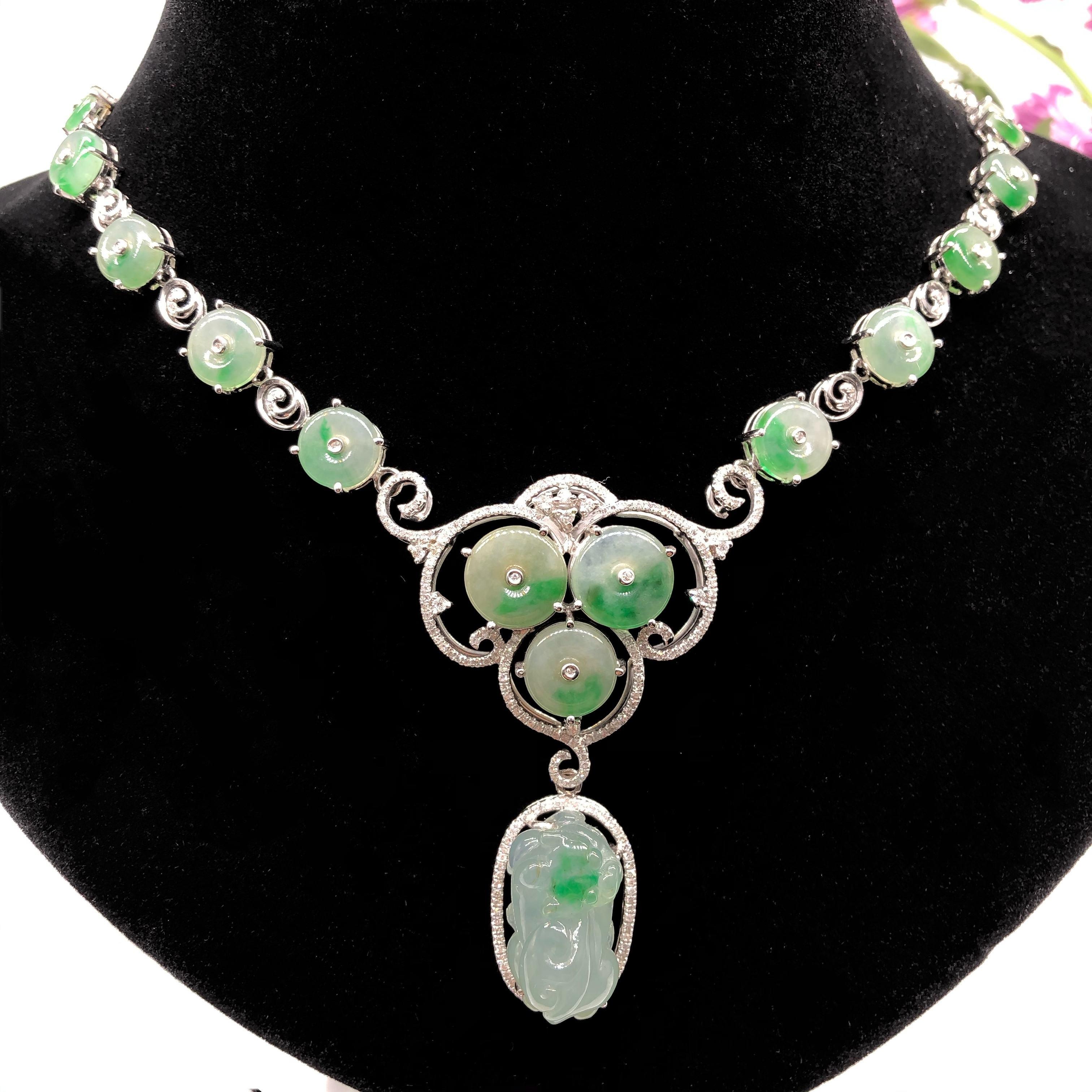 Yellow Jade Magatama Necklace Pendant Natural Gemstone Crystal Healing FORTUNE