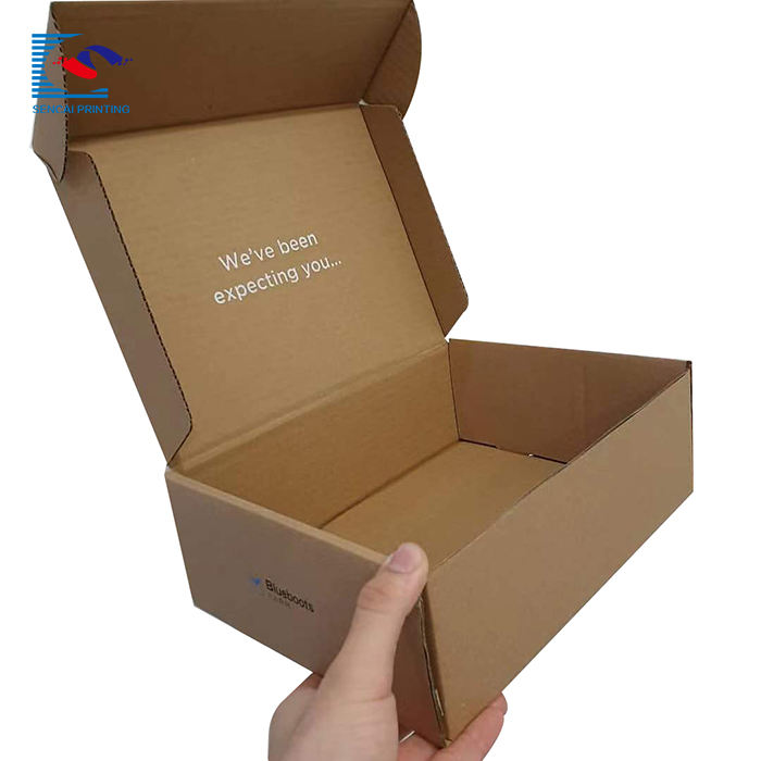 China factory lower cheaper craft paper custom corrugated shipping box for gift