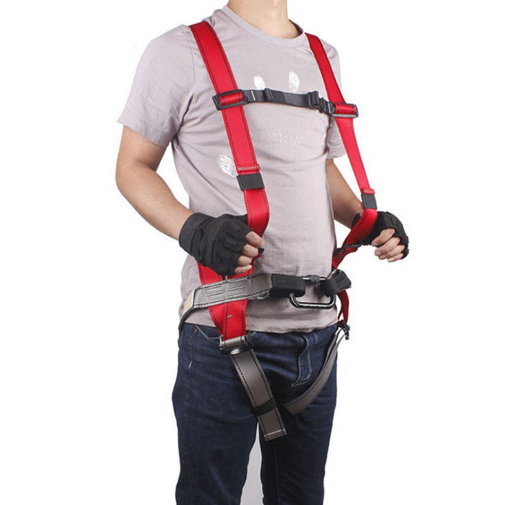 Hot Deal [ Climbing Harness ] Harness Belt Outdoor Climbing Full Body Red Safety Harness Belt