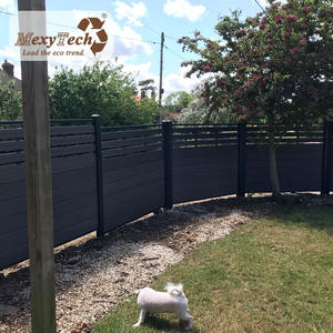 new poly fireproof wood fencing terrace fence design