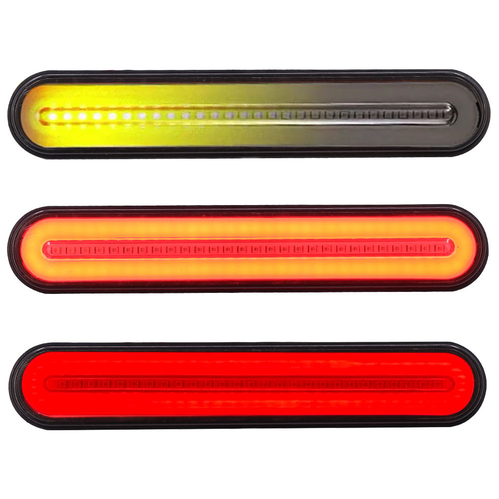 Nieuwe Collectie 3in1 Paar LED vrachtwagen signaal licht Waterdicht Neon Halo LED Truck Trailer Stop Turn Tail Light