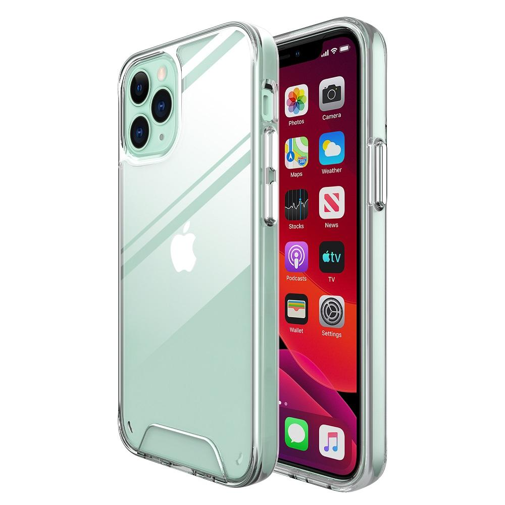For iPhone 12 11 Pro Max XR XS 6 7 8 TPU + PC Clear Space Crystal Hard Back Shockproof Phone Case