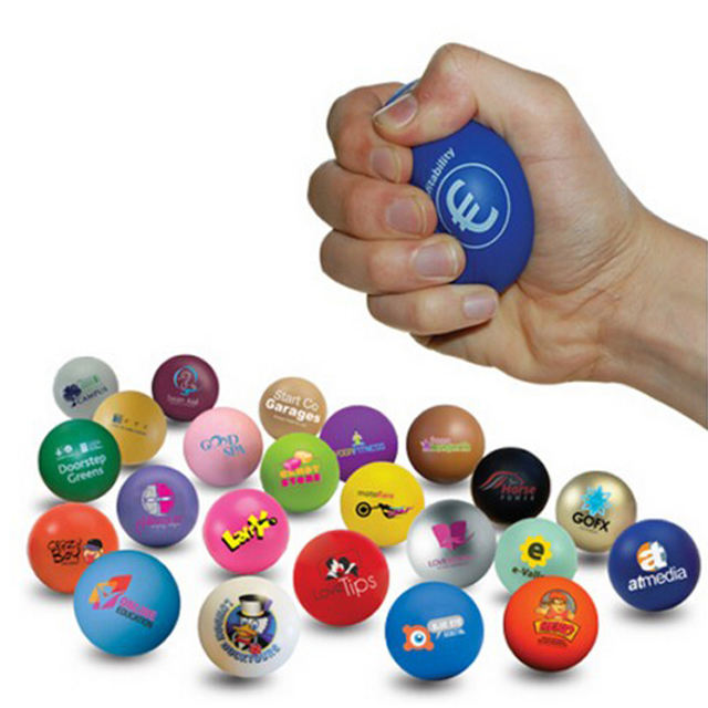 Unionpromo custom pu foam stress ball with logo printing