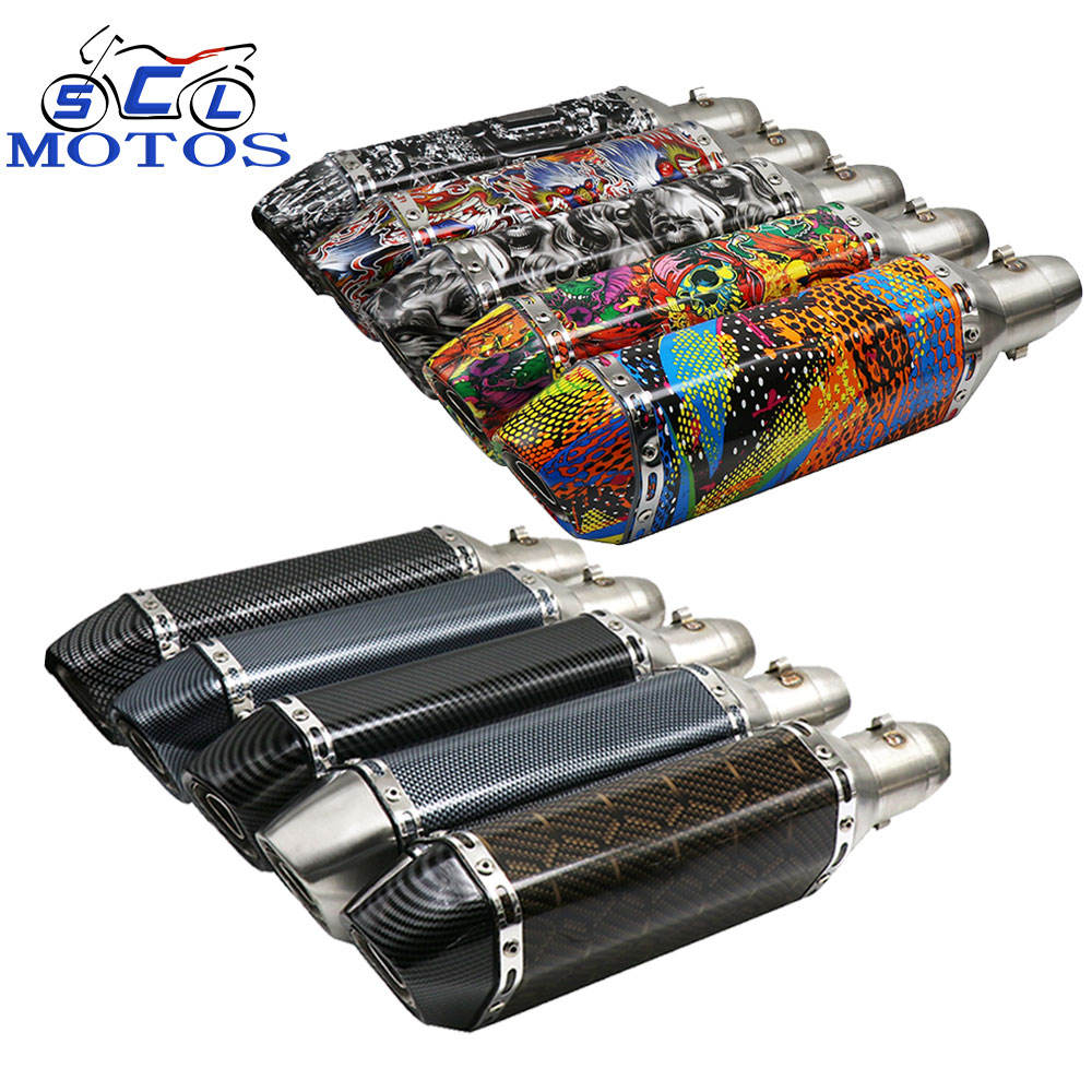 Universal high quality aluminium alloy Custom watermark muffler motorcycle Exhaust