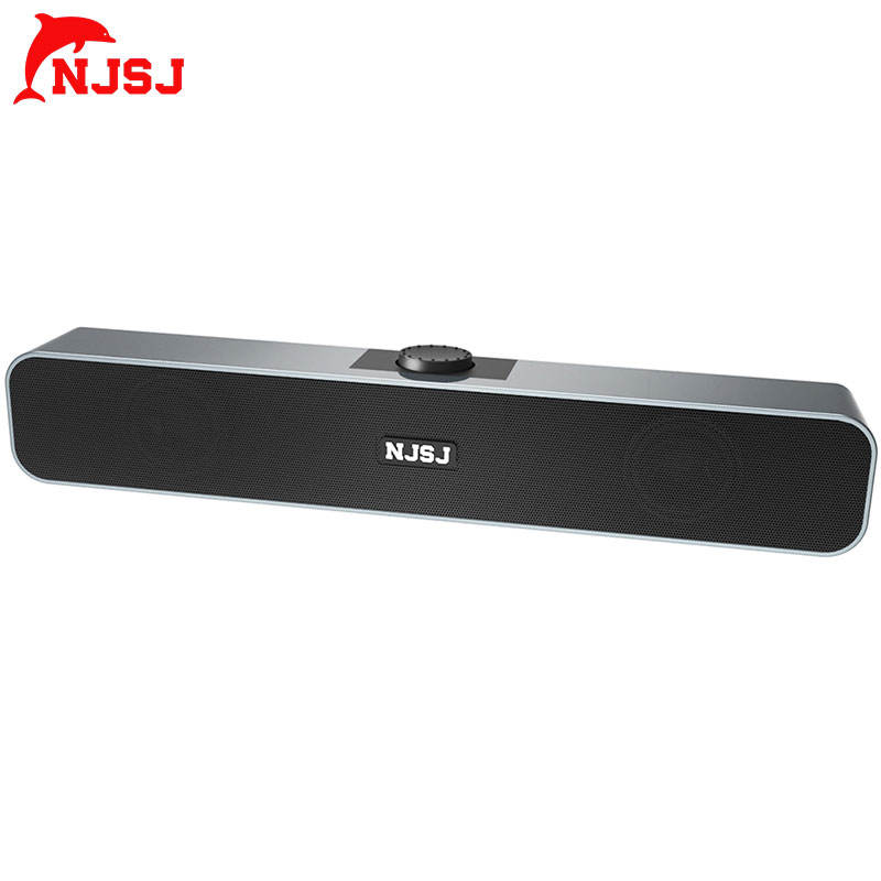 NJSJ 10W 2.0 USB powered portable home theater mini speakers 12v bluetooth sound bar