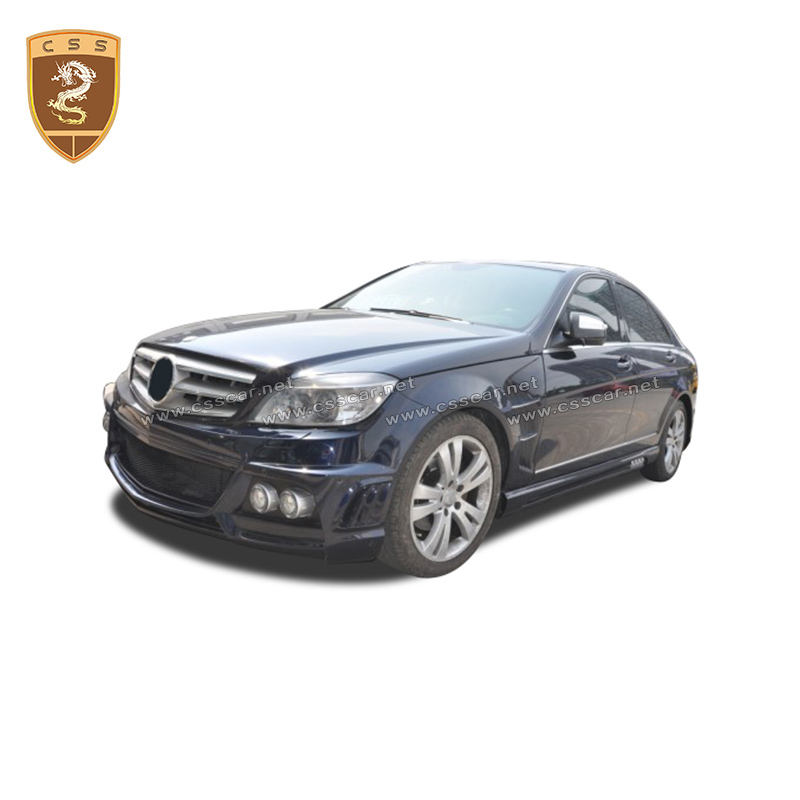Wd style body kit for c class w204 c200 2008-2011 year bumper car parts