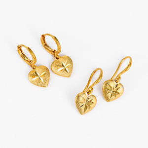 E-212 Xuping copper fashion wholesale women gold plated jewelry heart shaped pendant earrings