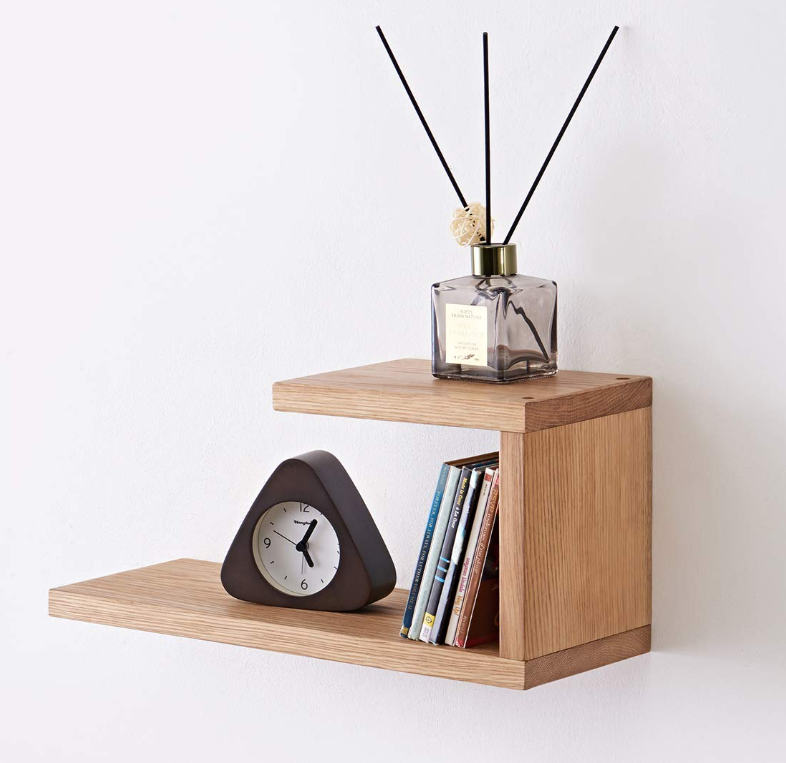 Wall Mounted Oak Wood Floating Shelf Wooden Floating Wall Shelf
