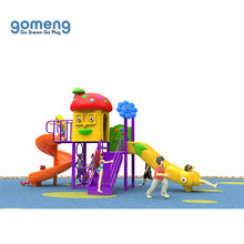 Simple outdoor playground equipment with children slide swing sets toys