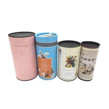 Round Gift Packaging Cardboard box,Cylindrical Shape Paper Tea Box