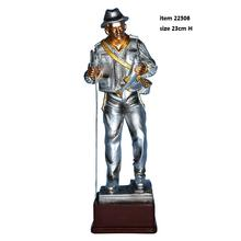 Gifts and crafts award resin trophy fishing man statue decoration sculptures souvenir handicraft