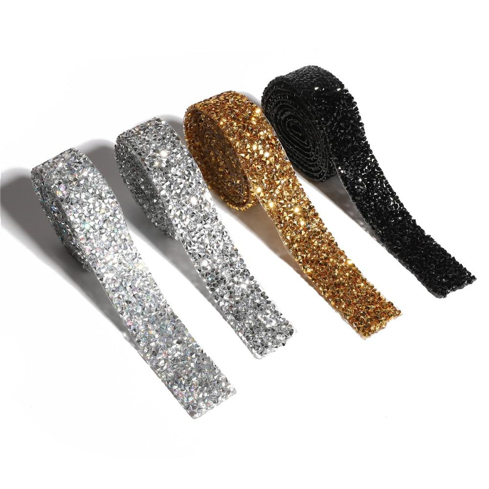Sewing Trim Crystal Motif Strass Hot Fix Rhinestone Tape Applicator Ribbon With Rhinestones Iron On Appliques For Dresses