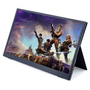 Game Monitor 15.6 inch 1080P IPS HDR Portable Monitor with Dual Type-C Speaker Leather Case for Laptop PC Phone PS4