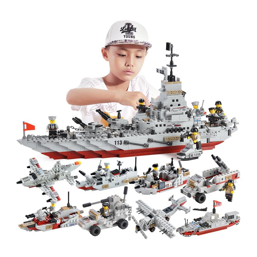 1000 PCS legoinglys Military toys military series building block For Children Toys