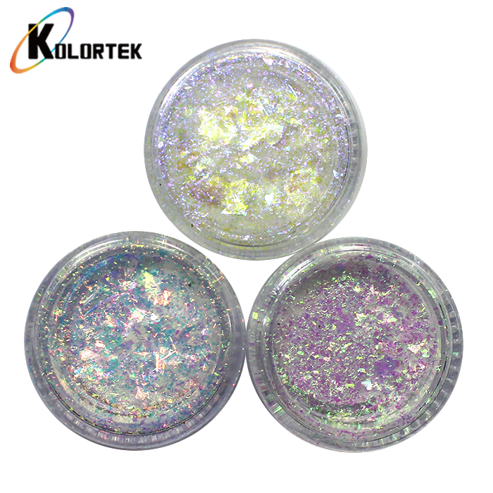 Nail Pigment Best Price Color Changing Rainbow Irregular Transparent Nail Glitter Chameleon Flakes