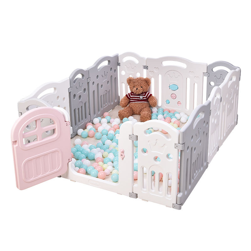 Baby Playpen for Babies Playpens Set for Kids 6 Small Panel + Door + Game Panel