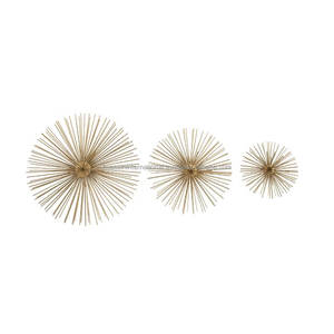 Hanging 3 Piece Metal Wire Star Wall Decor Set For Home And Christmas Decor