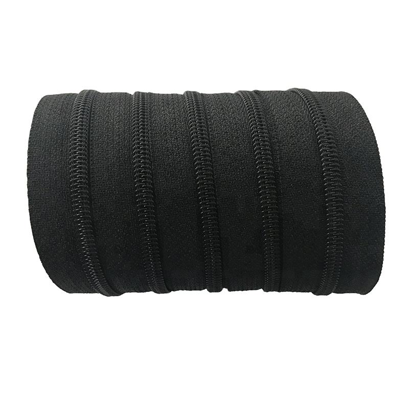 Garment nylon zipper long chain #4 nylon zipper roll black zipper tape