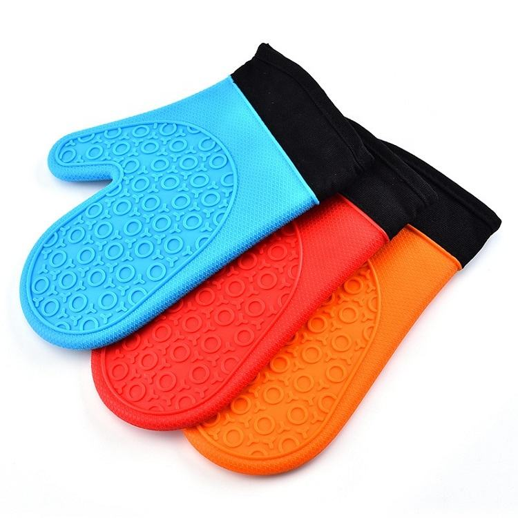 Heat Resistant Oven Mitts Waterproof Silicone Oven Mitt Long Handle Kitchen Usage Oven Mitt Silicon