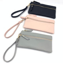 Women's PU Leather Small Wristlet Purses Smartphone Wallets Clutch Purse with Card Holder