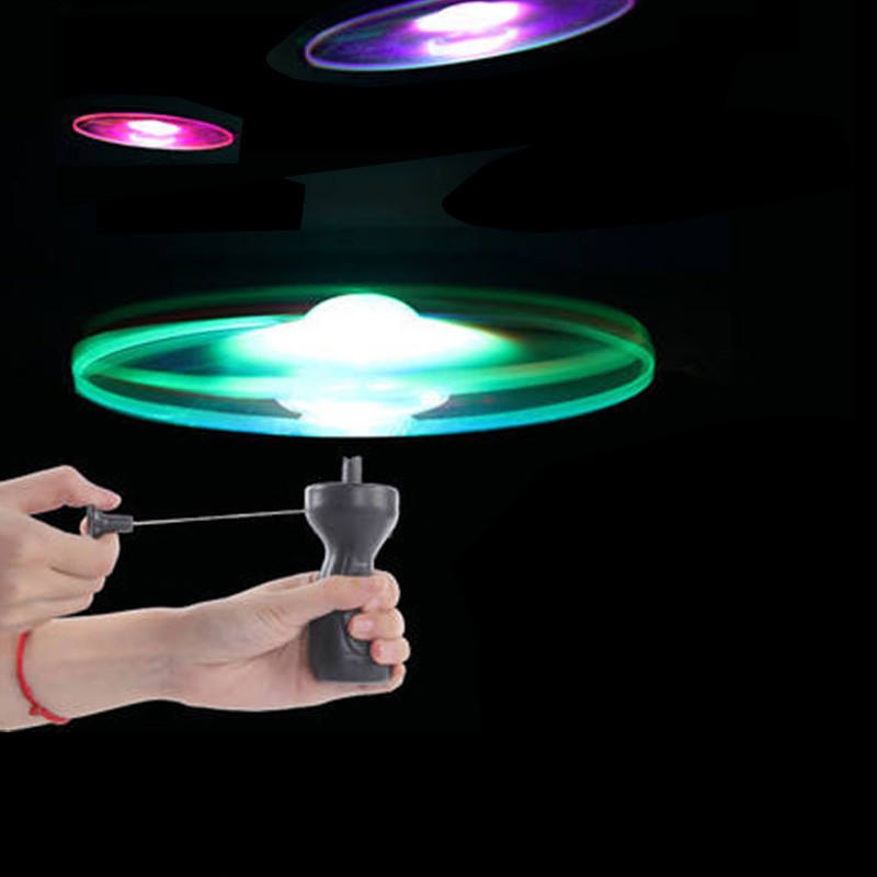 Children glowing flying saucer Night Light Toy LED Light Arrow Rocket Helicopter / Flash Flying Toy / Led Flying Arrow