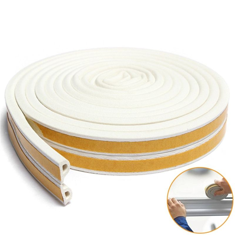 EPDM 3M Rubber Door Window Frame Seals Foam Weather Stripping Sound Proof Sealing Strips Draught Excluder Self Adhesive
