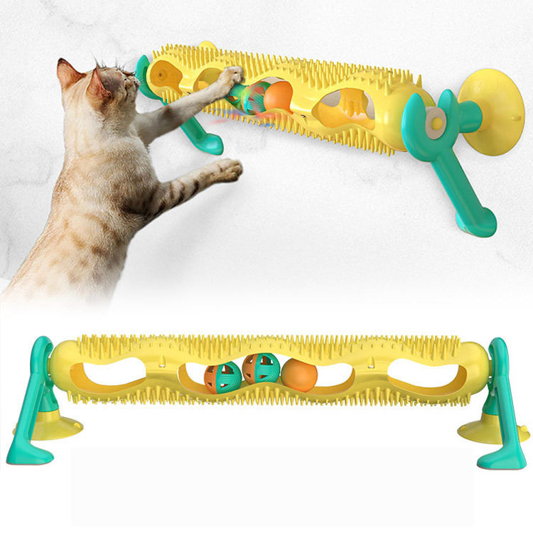 Hot style cat intelligence toys track ball toy wheel for cat