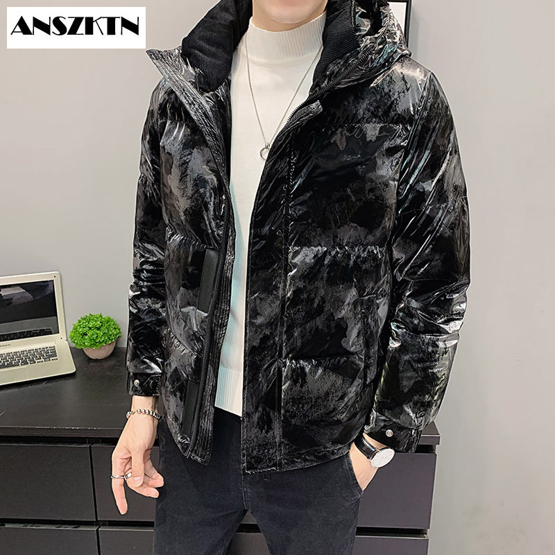 ANSZKTN new arrivals Worth Buying Outdoor Ski Wear Men Down JacketFashion Thick Warm Parkas Casual White Duck Down Coats