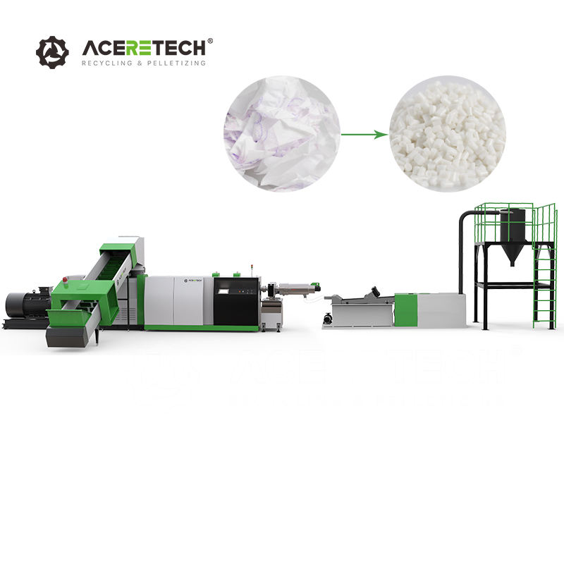 Plastic Recycling Machine Pelletizing Machine for PET Bottle Film Flakes Granulating