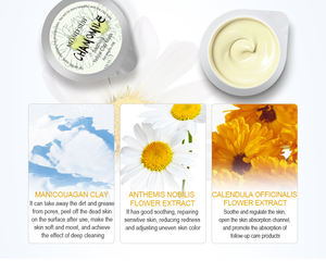 Oem AMP packaging chamomile custom organic dead sea facial body mud mask yellow clay mask with private label