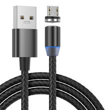 Micro USB 3 in 1 Magnetic Charger Cable LED Magnetic USB Charging Cable