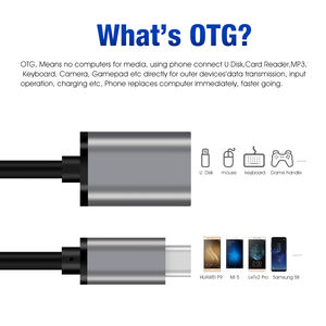 USB OTG cable USB 3.0 female to Type C Male Adapter Connector Metal Head Adapter