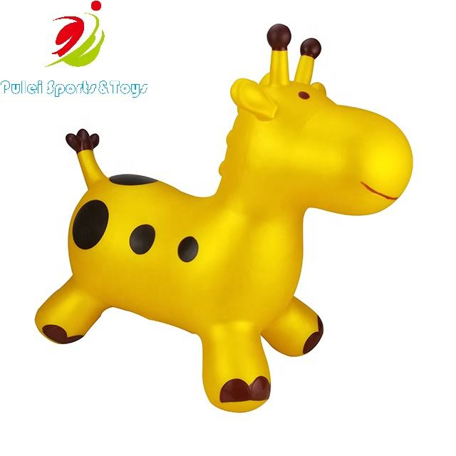 kids ride on jumping exercise outdoor Sports toys inflatable PVC Animal Hopper Giraffe