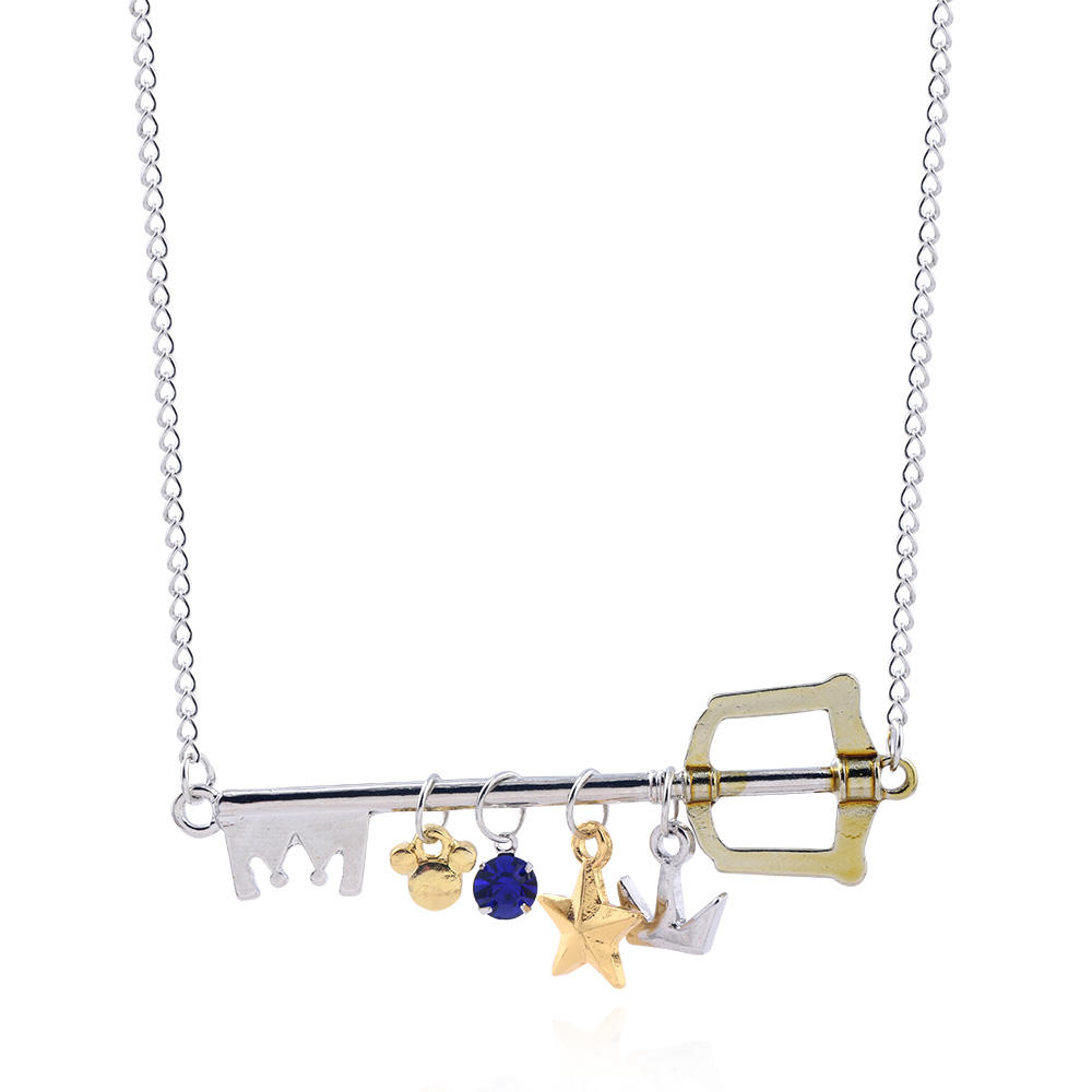 Kingdom Hearts Sora Crown Necklace Pendant Charm Cosplay Gifts