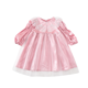 PHB 12469 autumn solid color plain design kids hot style dress