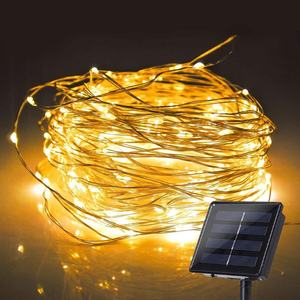 Smart Bulk Sale 22M 220LED Christmas Outdoor Decorative String Light Solar Power Holiday Led Christmas Lights