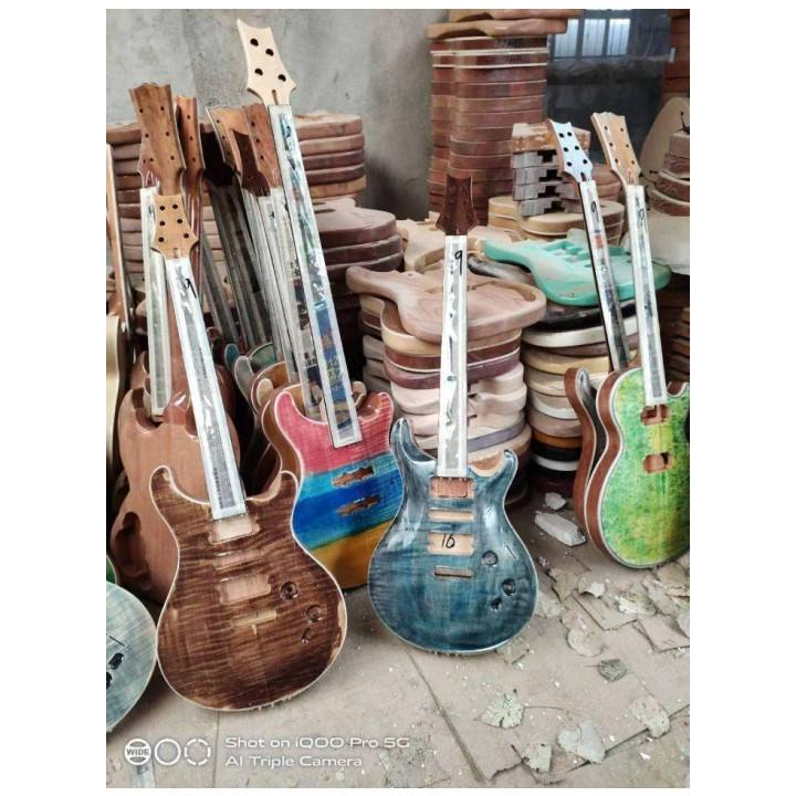 PRS GUITAR PRS KITS unfinished depression fingerboard electric unpainted kit electric guitar body flame maple top guitar body