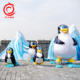 popular party decoration led fabric Ice Age theme cartoon penguin animal lantern