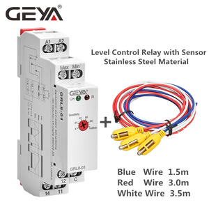 GEYA GRL8 Water Level Control Relay with Stainless Sensor AC/DC24V-240V Level Control Sensor Level Switch