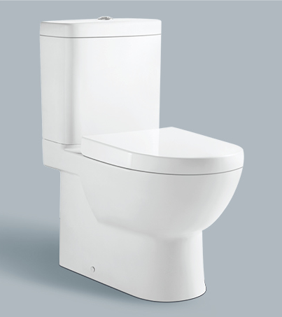 Cheap price China manufacturer modern style water closet two piece porcelain toilet
