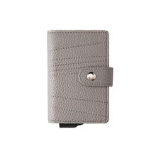 Pop Up Wallet Leather RFID Minimalist Wallet Automatic Card Holder w/Money Clip