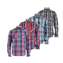 Top quality wholesale fashion designer long sleeve yarn dyed checked 100% cotton casual man clothes shirt