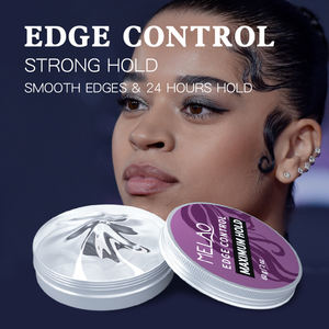 MELAO Super hard private label manufacturers free sample custom edge control for natural hair styling wax